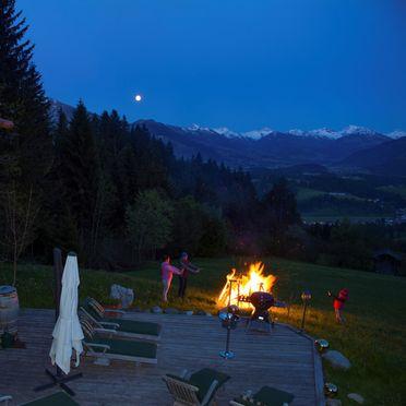 Lagerfeuer, Chalet Alpenblick, Kitzbühel, Tirol, Tirol, Österreich