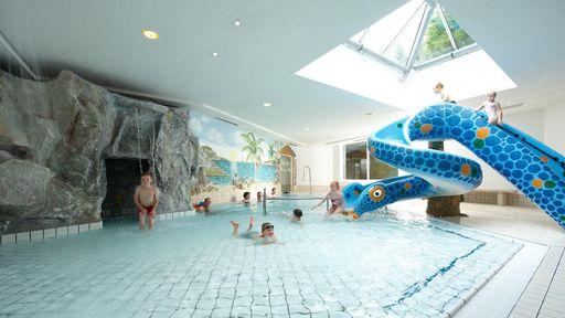 Mehrere Badebereiche bieten Ihnen ein abwechslungsreiches Schwimmerlebnis.
