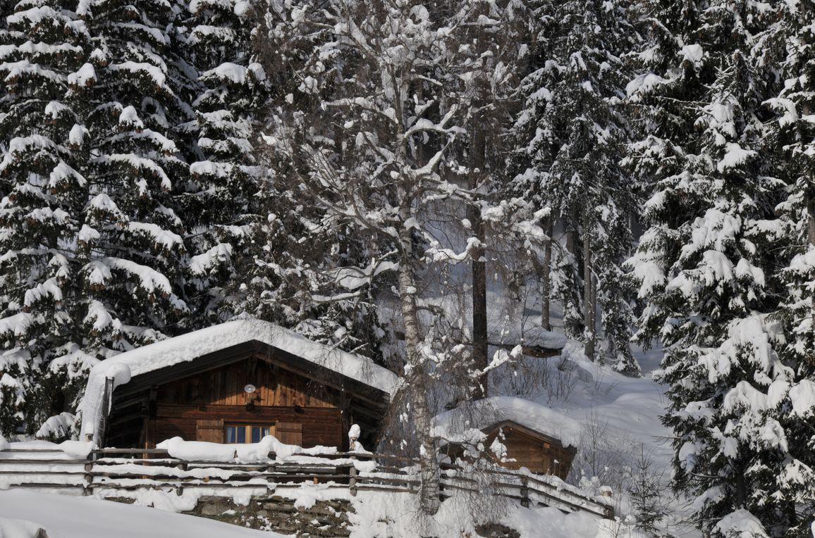 Jägerhütte, Winter
