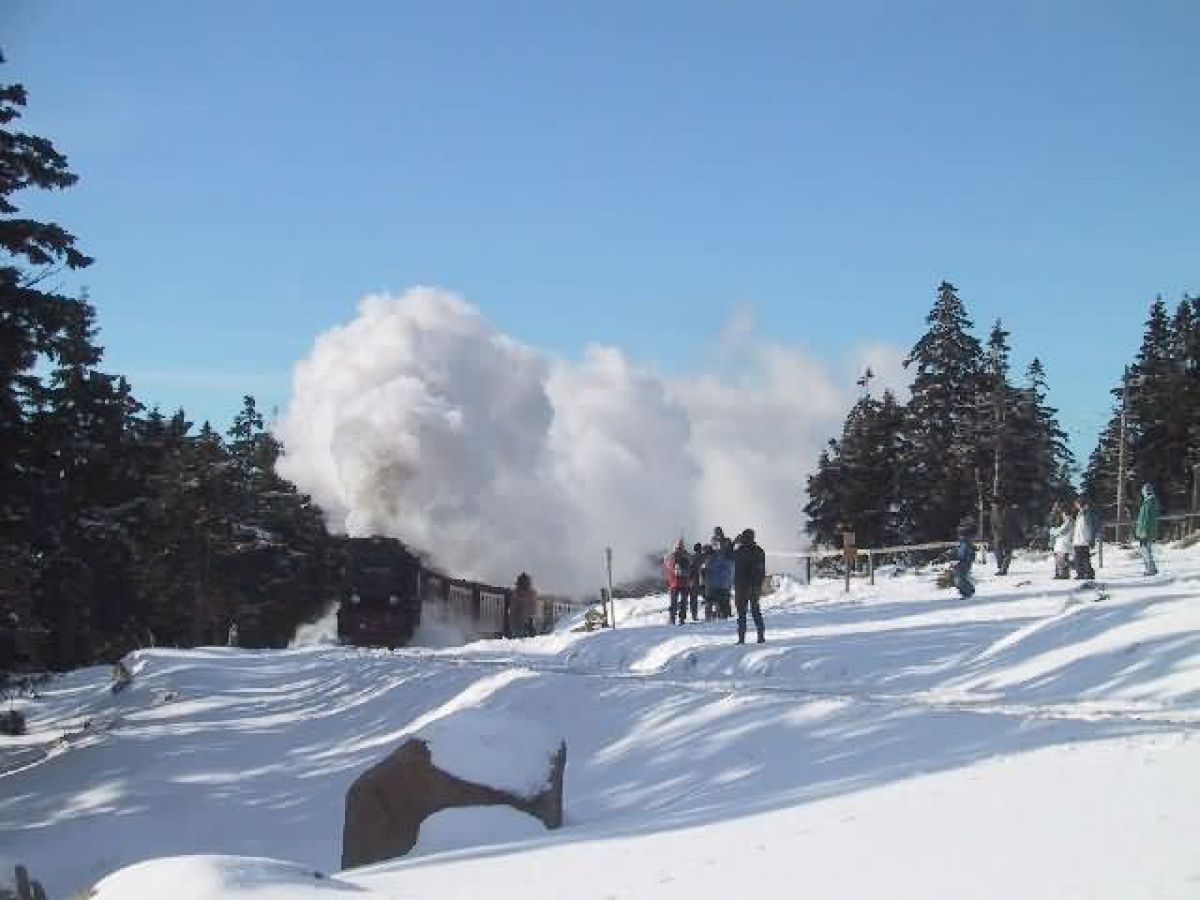 Winter-Schneemannzeit im Harz