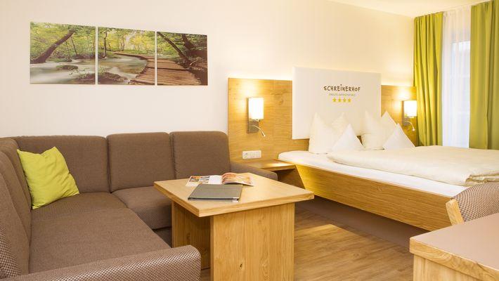 """Hotel Zimmer: Family-Suite Schreinerhof """"Top"""" - Schreinerhof in Schönberg"""