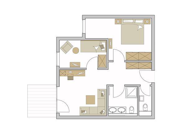 Family-Suite Exklusiv Grundriss #1