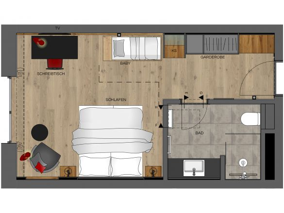Doppelzimmer Premium Grundriss #1