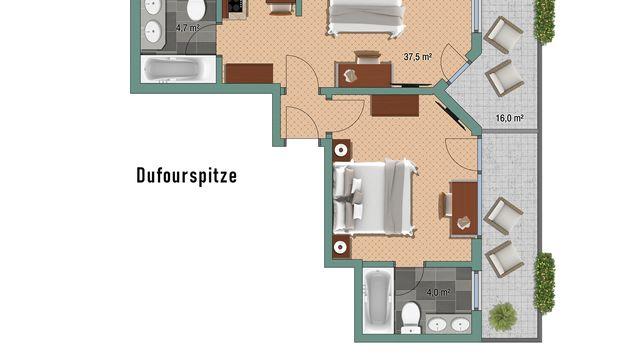 """Appartement """"Dufourspitze"""""""