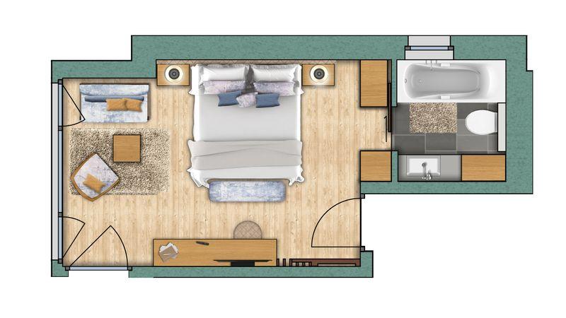 "chambres doubles Chambre double ""Obergabelhorn"" Confort"