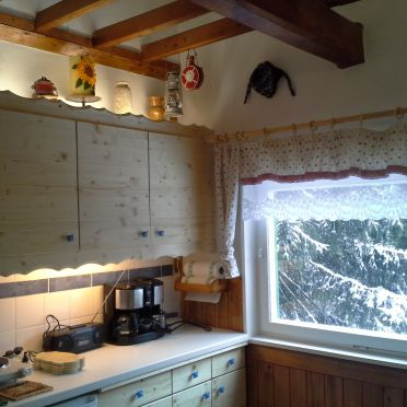 Küche, Bärbels Panoramahütte, Vordernberg, Steiermark, Steiermark, Österreich