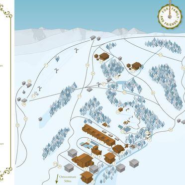 Map winter, Bachgut Jagdhaus Chalet in Saalbach-Hinterglemm, Salzburg, Salzburg, Austria