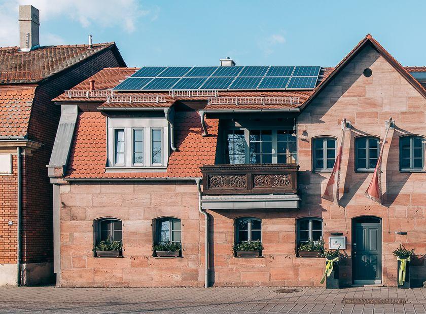 Biohotel Kunstquartier: Straßenansicht - Biohotel KUNSTQUARTIER, Stein bei Nürnberg, Franken, Bayern, Deutschland