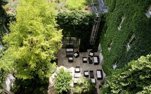Boutiquehotel Stadthalle Vogelperspektive Garten