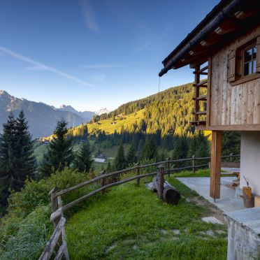 Panorama, Costetoi Hütte in San Pietro di Cadore, Südtirol, Alto Adige, Italy