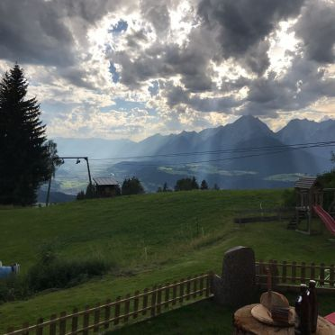 view, Chalet Friedenalm, Pill, Tirol, Tyrol, Austria