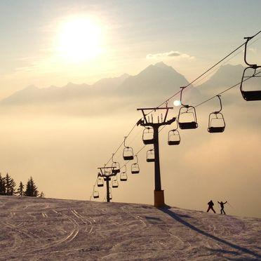 Winter, Chalet Friedenalm in Pill, Tirol, Tyrol, Austria
