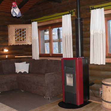 Berghütte Ahrntal, cozy couch with oven