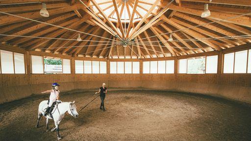 Besuchen Sie unseren Reiterhof die POST-Ranch und den Riesen-Streichelzoo im Familotel Post.