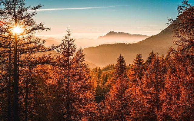 Türlwand Herbst Richt und Hochkönig Ramsau