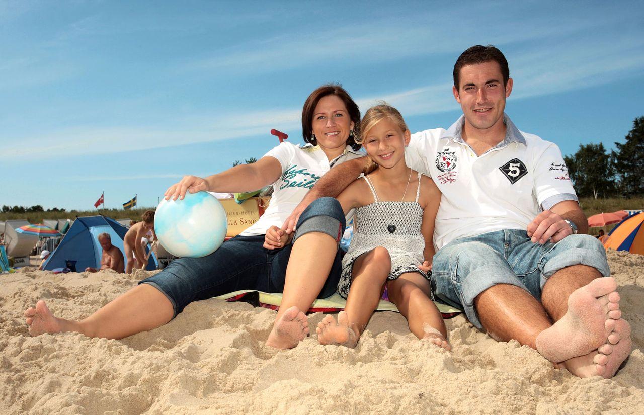 Familie Strand Ostsee