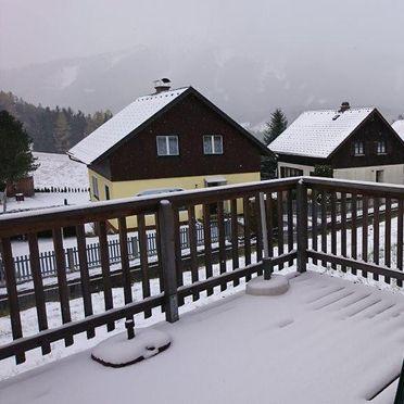 terrace in winter, Chalet Spatzennest in Hohentauern, Steiermark, Styria , Austria