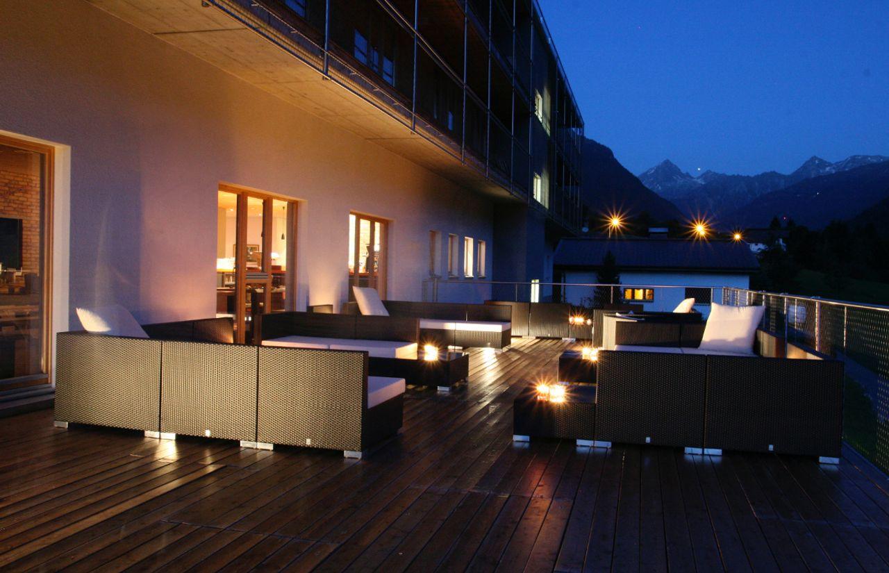 Terrasse am Abend