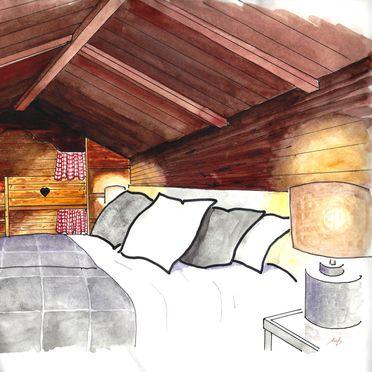 Chalets Lagaun, Schlafzimmer Symbolfoto