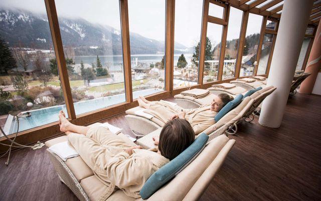 SPA-Ruheraum des Familienhotels Ebners Waldhof im Winter