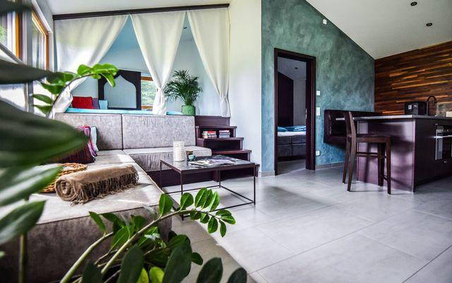 BIO HOTEL 7 Sentidos: Casita von innen