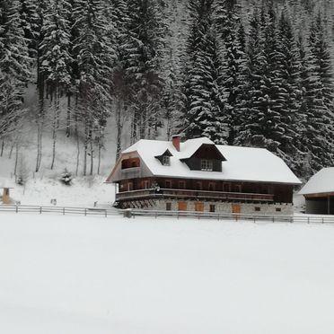 Almhütte Klippitztörl, Winter