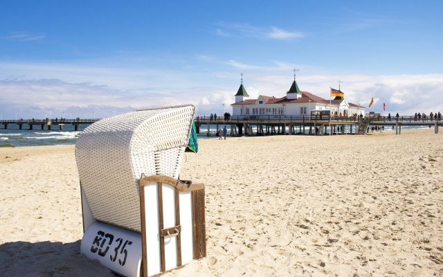 BIO HOTEL Gutshof Insel Usedom: Strandkorb