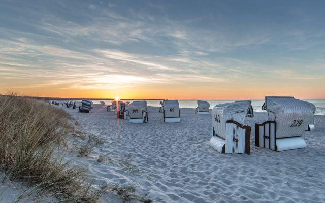 BIO HOTEL Gutshof Insel Usedom: Strand bei Sonnenaufgang