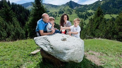 Das Bergdorf Malbun ist eine alpine Spielwiese für Familienaktivitäten im Sommer.