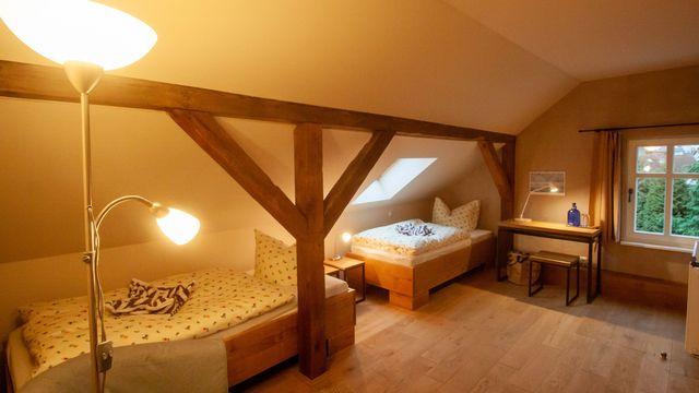 Twin Zimmer im Bio-Gästehaus