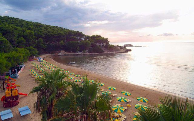 Der Strand des Familienhotels