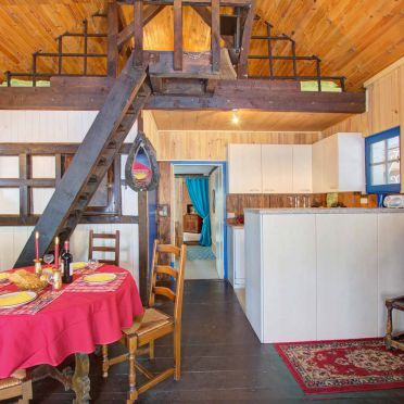 Wohnbereich, Kiefer Hütte , La Rosiere - Vogesen, Vogesen, Elsass, Frankreich