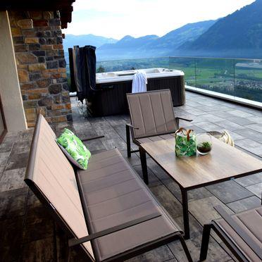 Sommer Terrasse, Superior Chalet Berggold in Kaltenbach im Zillertal, Tirol, Tirol, Österreich