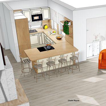 Visualisierungsbild - Küche, Chalet Alteck in Rauris, , Salzburg, Österreich