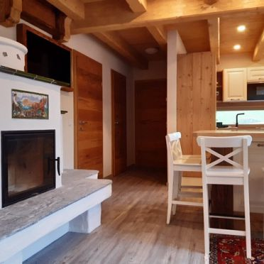 kitchen and living area, Chalet Alteck in Rauris, , Salzburg, Austria