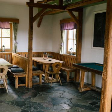 Wohnstube, Gamsberg Hütte in Pack, , Steiermark, Österreich