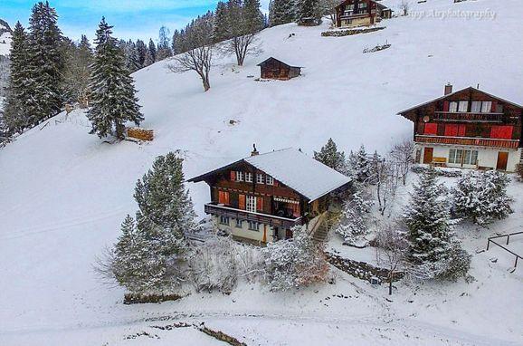 Außen Winter 11 - Hauptbild, Chalet Jungfrau an der Ledi, Wengen, Berner Oberland, Bern, Schweiz