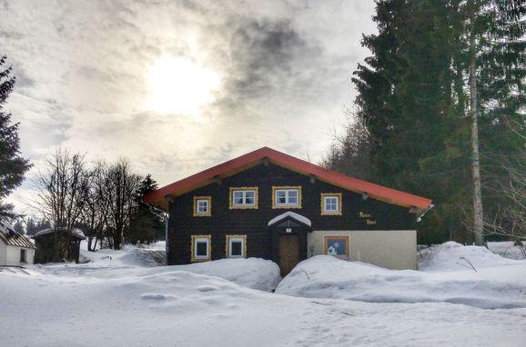 Außen Winter 15 - Hauptbild, Ferienhütte Kaiserhäusl im Bayerischen Wald, Bischofsreut, Bayerischer Wald, Bayern, Deutschland