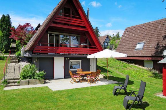 Außen Sommer 1 - Hauptbild, Ferienhütte Svea am Bodensee, Illmensee, Bodensee, Baden-Württemberg, Deutschland