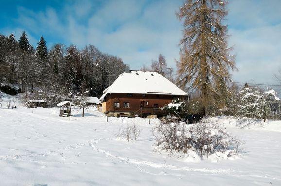 Außen Winter 23 - Hauptbild, Schwarzwaldhütte Bistenhof, Hinterzarten, Schwarzwald, Baden-Württemberg, Deutschland