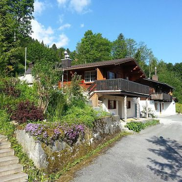 """Außen Sommer 1 - Hauptbild, Ferienchalet """"Im Gus"""", Oberterzen, Ostschweiz, St. Gallen, Schweiz"""