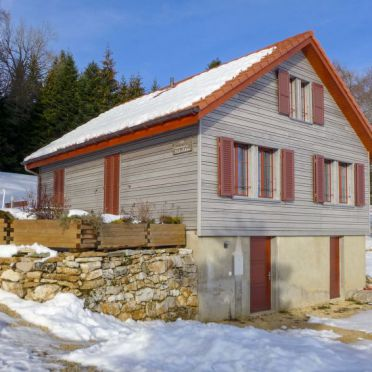 Innen Winter 34, Ferienchalet la Frêtaz im Jura, Bullet, Jura, Jura, Schweiz
