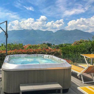 Außen Sommer 2, Rustico Adelina, Luino, Lago Maggiore, Lombardei, Italien