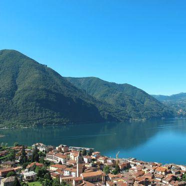 Innen Sommer 4, Ferienhaus Ca' Rossa, Porlezza, Luganer See, Lombardei, Italien