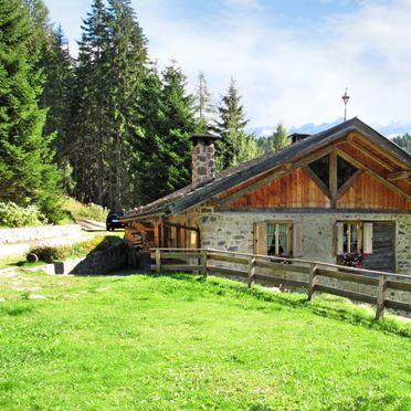 Außen Sommer 2, Chalet Baita El Deroch, Predazzo, Fleimstal, Trentino-Südtirol, Italien