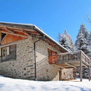 Außen Winter 33, Chalet Baita El Deroch, Predazzo, Fleimstal, Trentino-Südtirol, Italien
