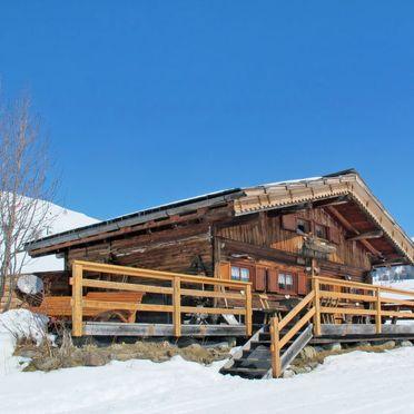 Außen Winter 22, Chalet Baita Medil, Moena, Dolomiten, Trentino-Südtirol, Italien