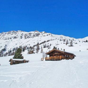 Außen Winter 26, Chalet Baita Medil, Moena, Dolomiten, Trentino-Südtirol, Italien