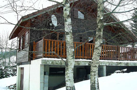 Außen Winter 6, Chalet Gerbepal, Gerbépal, Vogesen, Elsass, Frankreich
