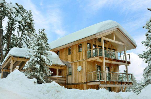 Außen Winter 23, Chalet Zirbenwald, Turracher Höhe, Steiermark, Steiermark, Österreich